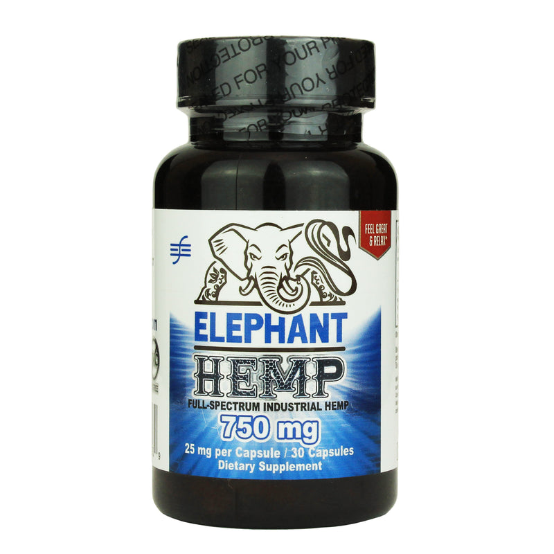 ELEPHANT HEMP CAPS BOTTLES