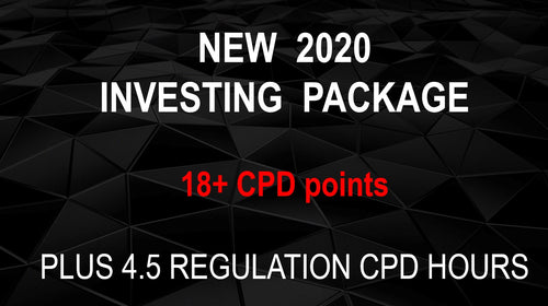 INVESTING & REGULATION (NEW 2020-2021 PACKAGE) - Earn 18+ CPD hours (Once-off cost).