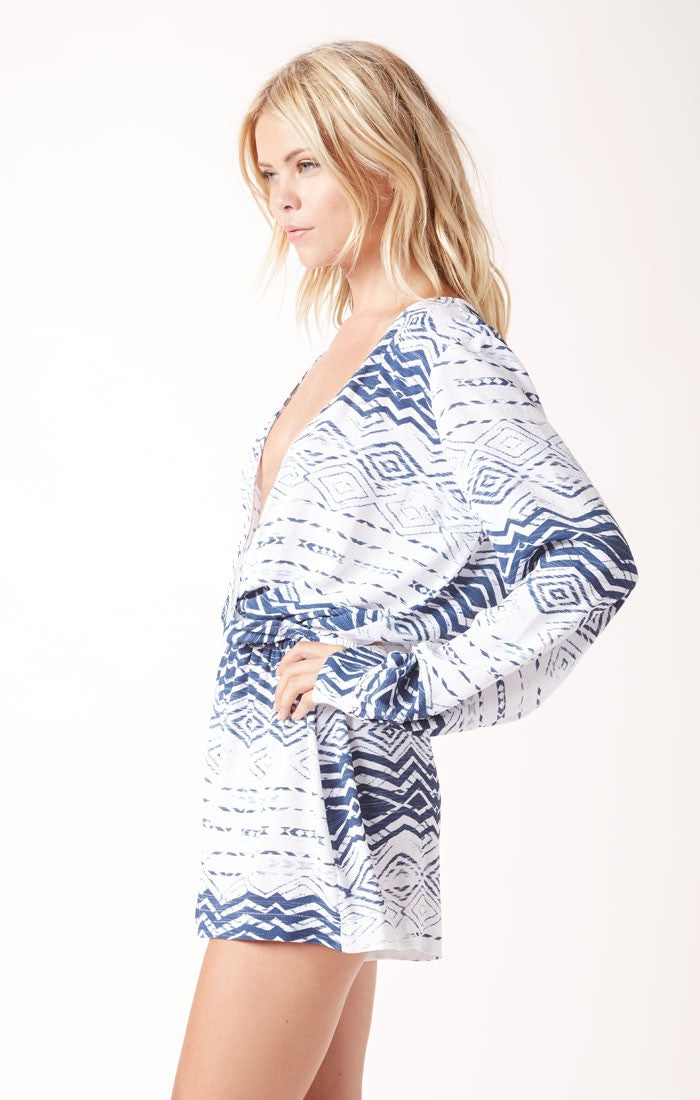 Nautical Boho Romper (2760393130048)