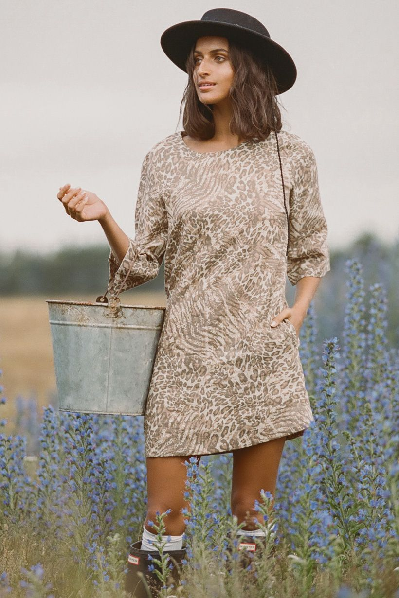 Ada Tunic Dress - Leopard