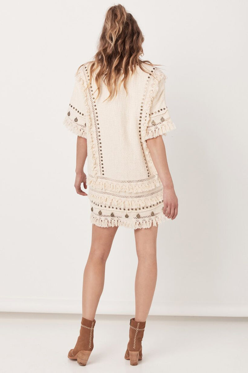 Alphie Smock Dress - Cream