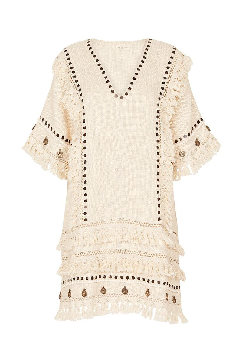 Alphie Smock Dress - Cream (3290722304064)