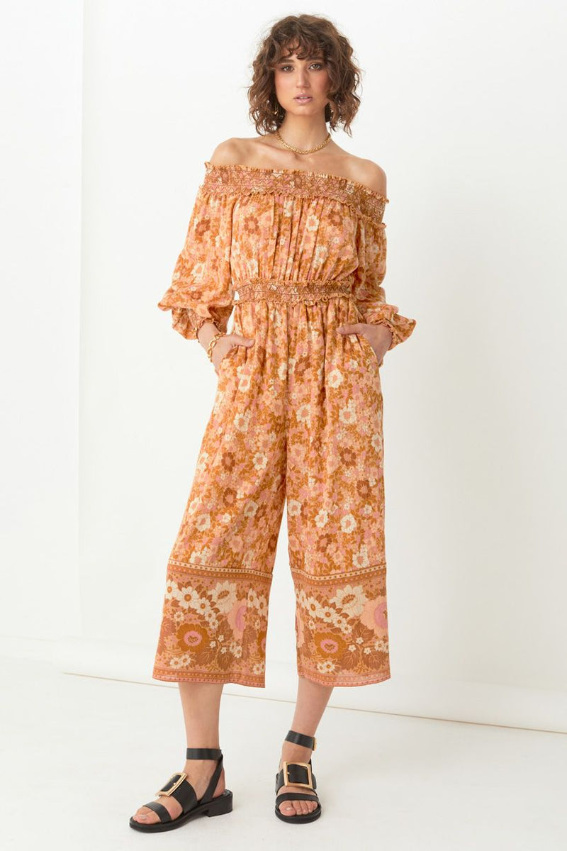 Anne Jumpsuit - Peach