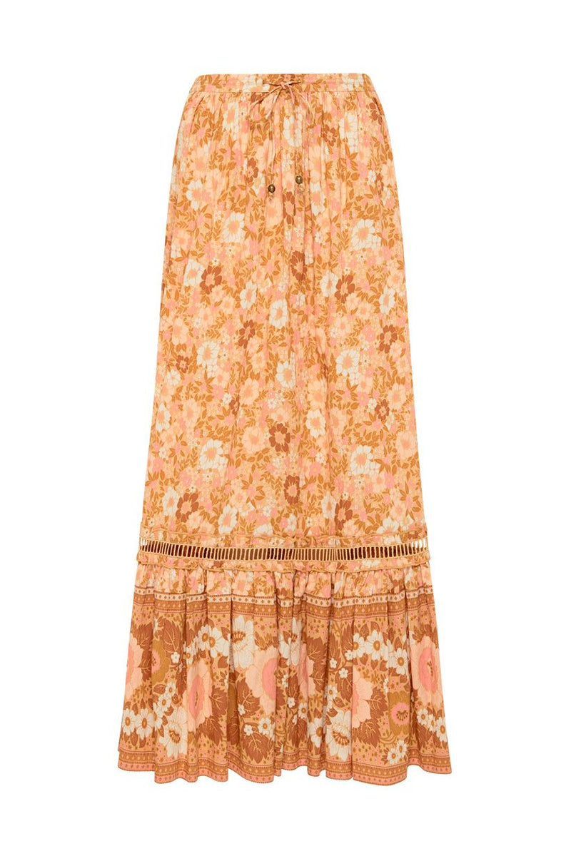 Anne Maxi Skirt - Peach