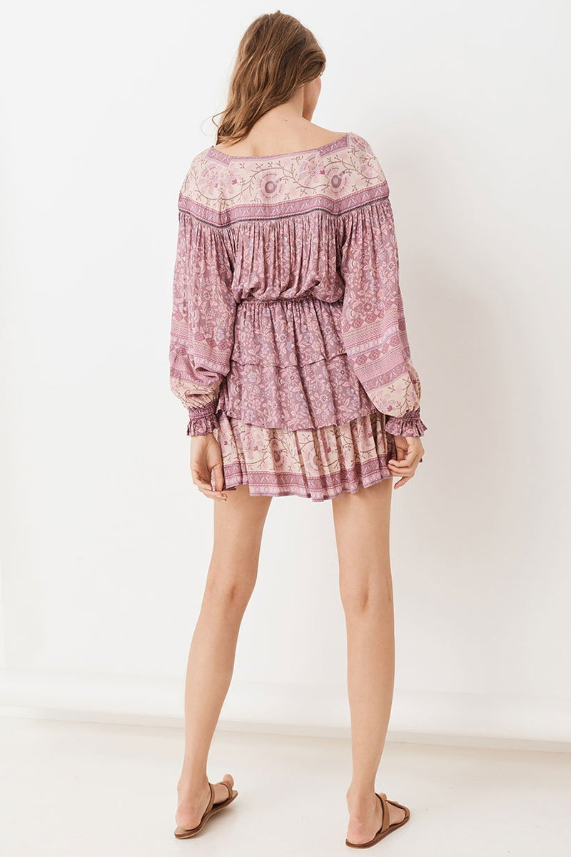 Dahlia Ra-Ra Mini Skirt - Mulberry (3991307518016)