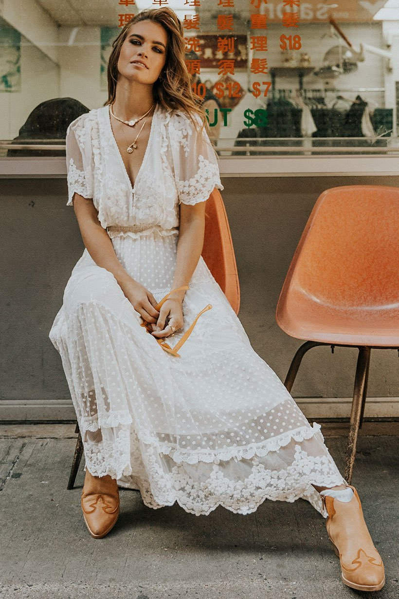 Dawn Lace Gown - Cream