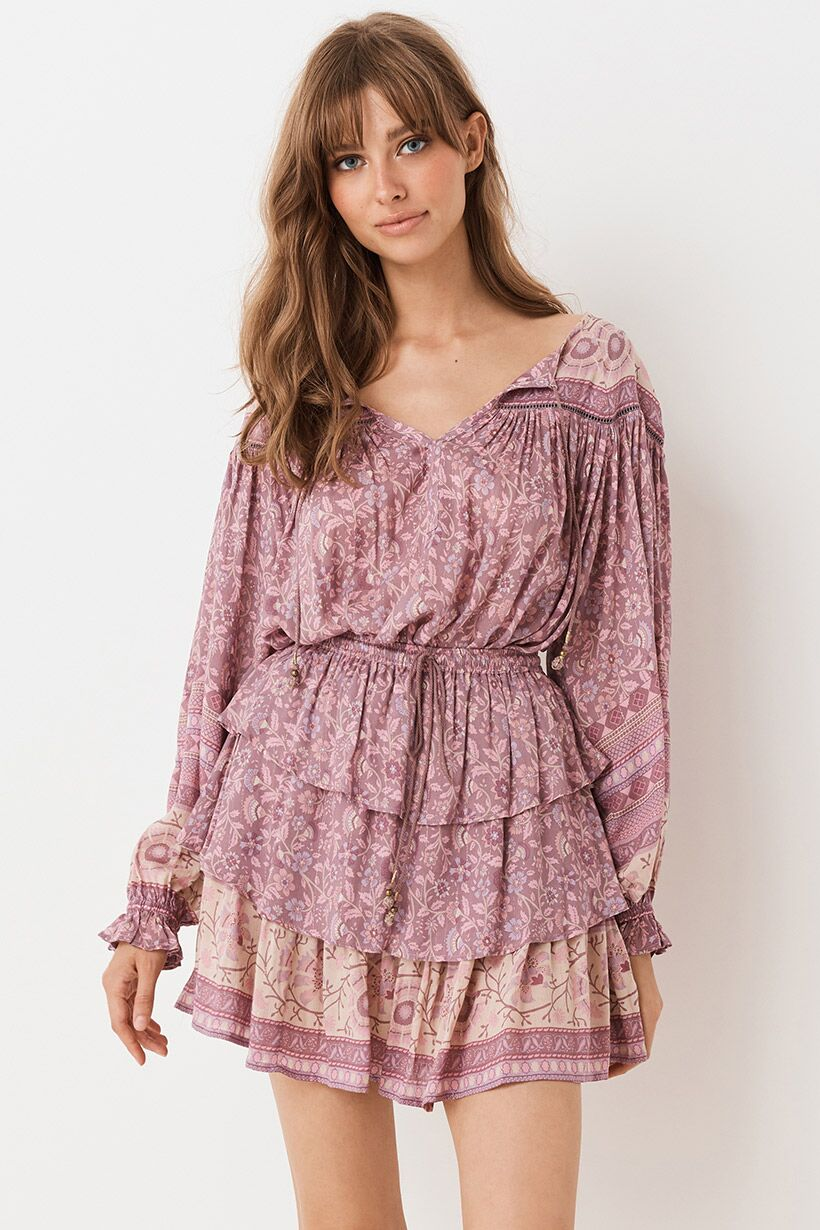 Dahlia Blouse - Mulberry