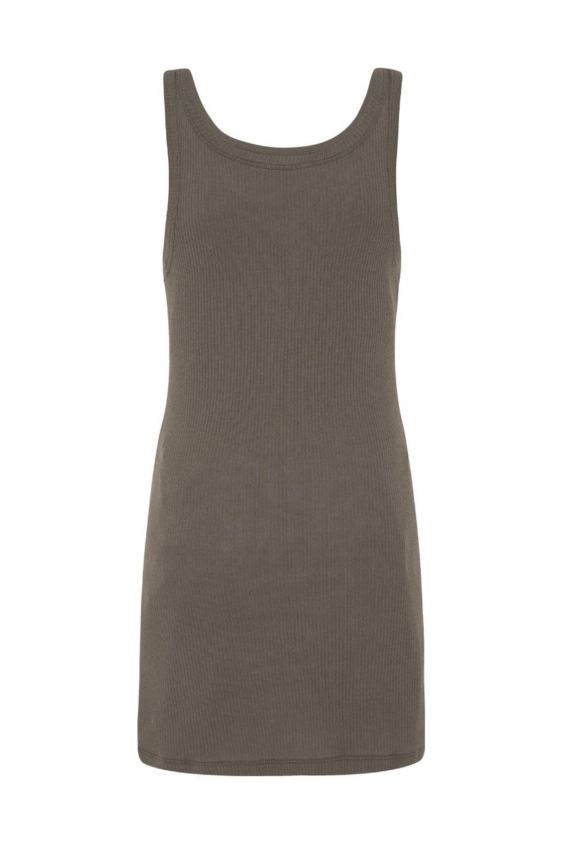 Eagle Angel Organic Singlet Dress - Charcoal (4502335553617)