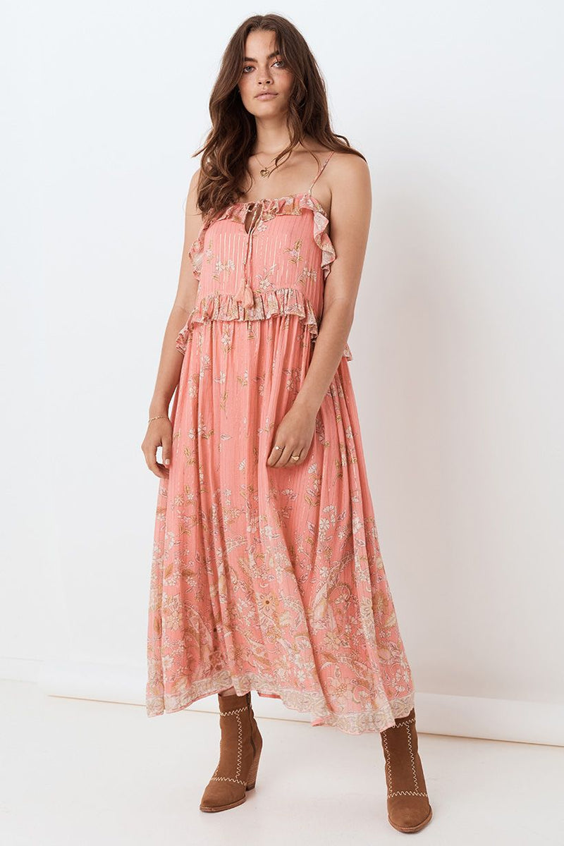 Hendrix Strappy Dress - Dusty Pink