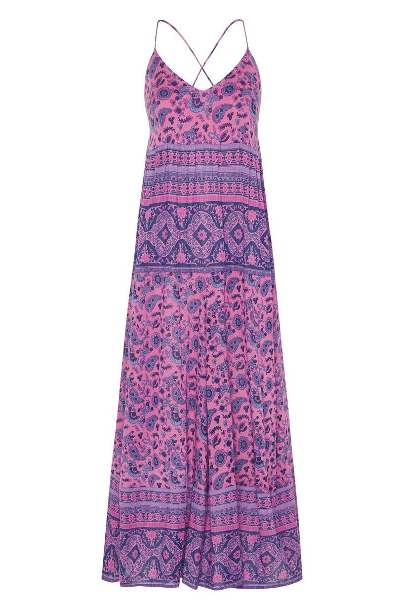 Journey Strappy Maxi Dress - Mulberry (4503857004625)