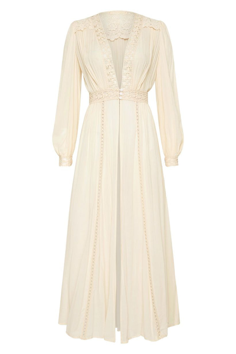 Le Gauze Lace Duster - Off White