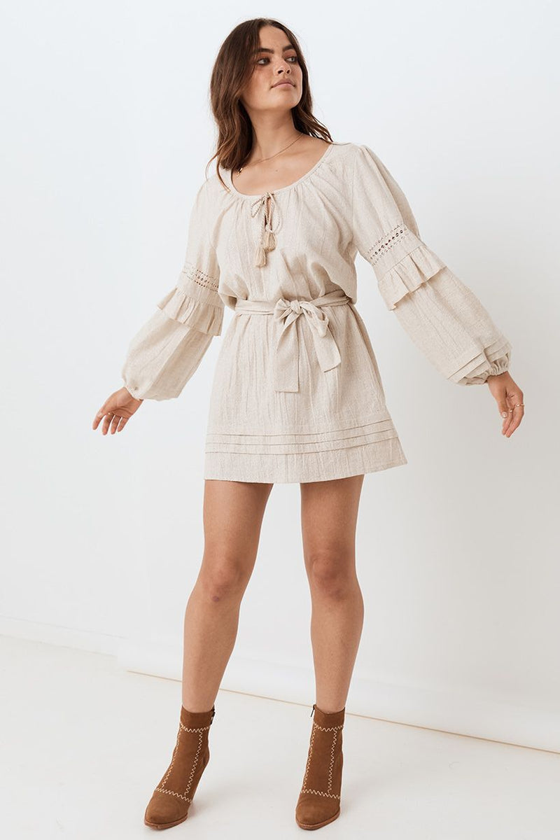 Lola Tunic Dress - Biscuit