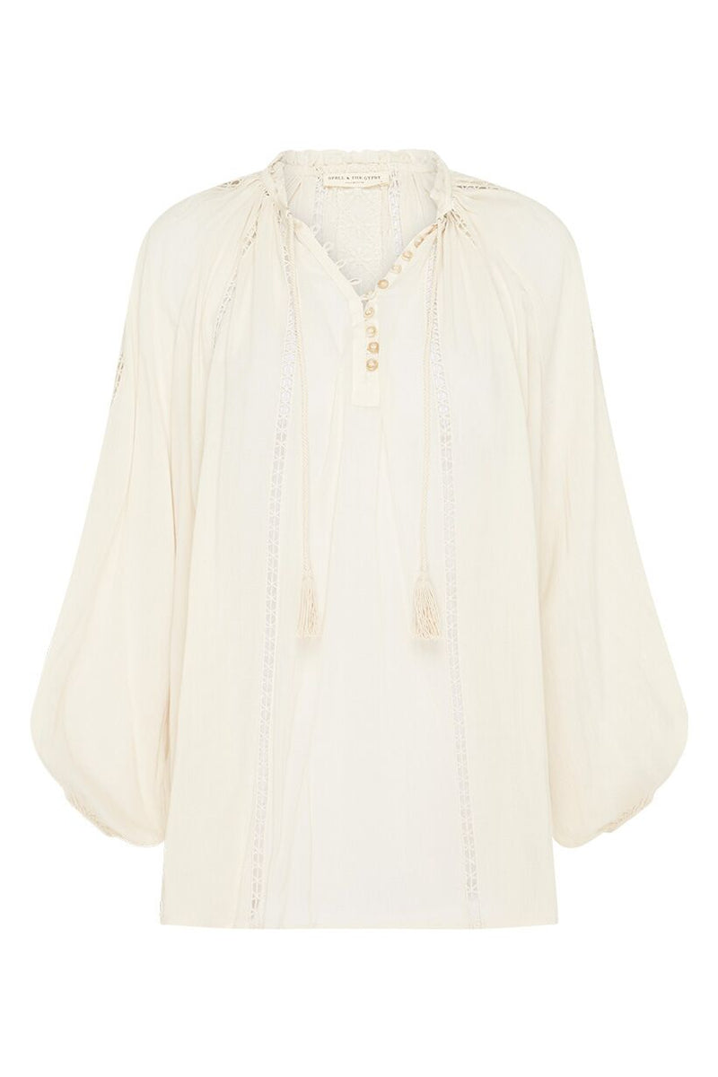 Loves Me Not Blouse - Cream (4174460944448)