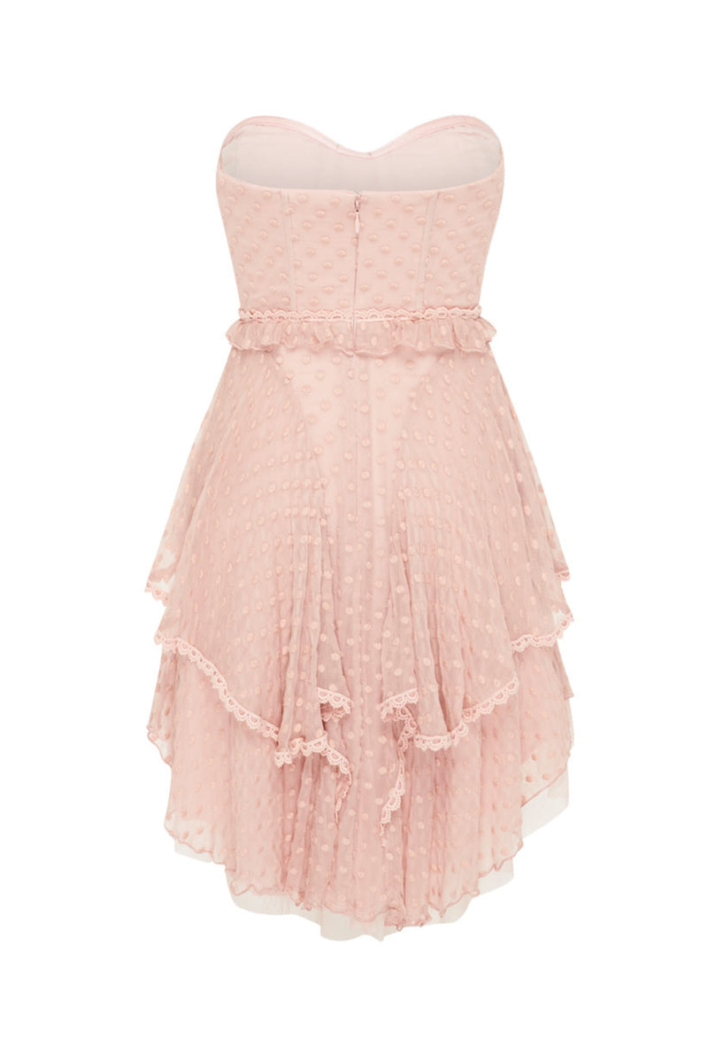 Mira Bustier Rara Dress - Rose (4354679373905)