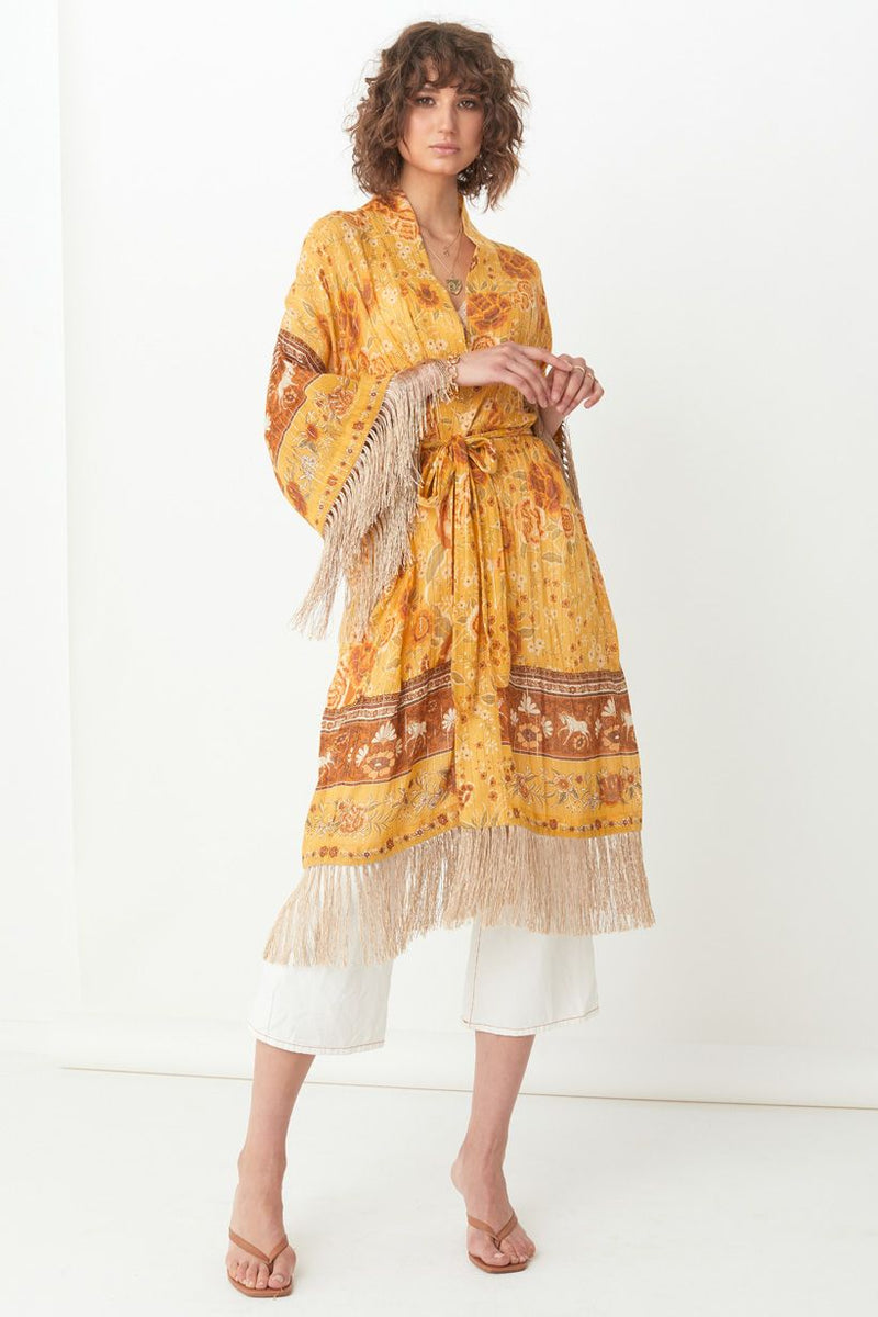 Mystic Tasselled Robe - Sunflower
