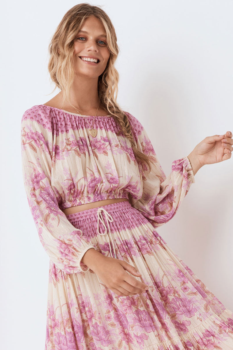 Coco Lei Peasant Top - Lilac