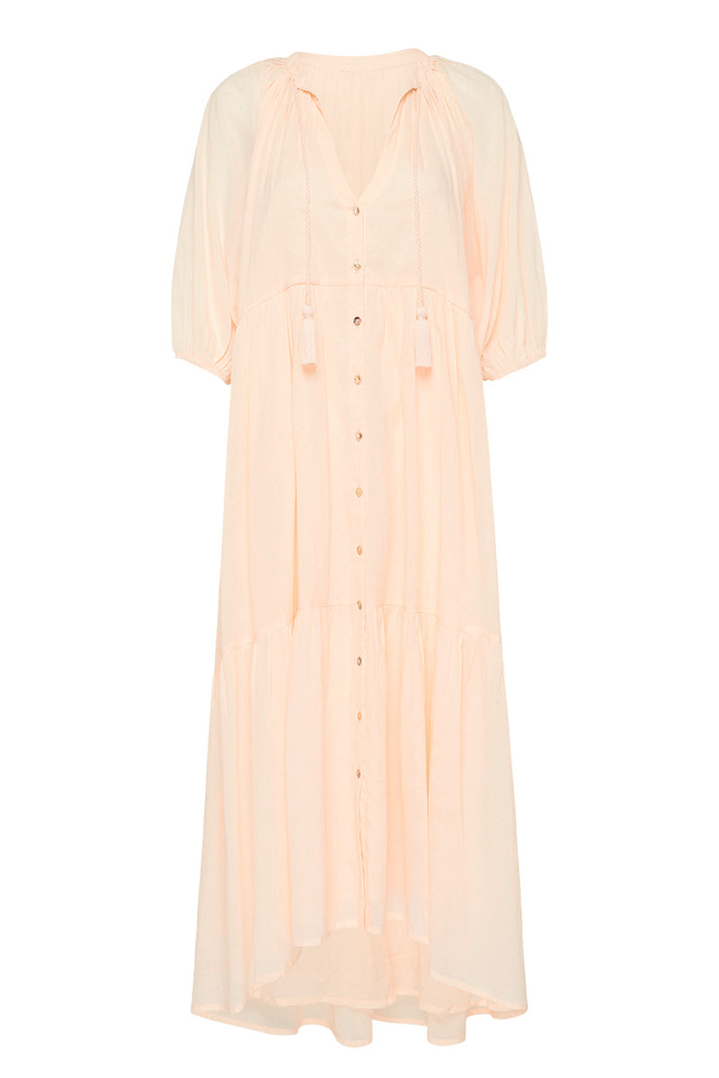 Honey Smock Dress - Peach