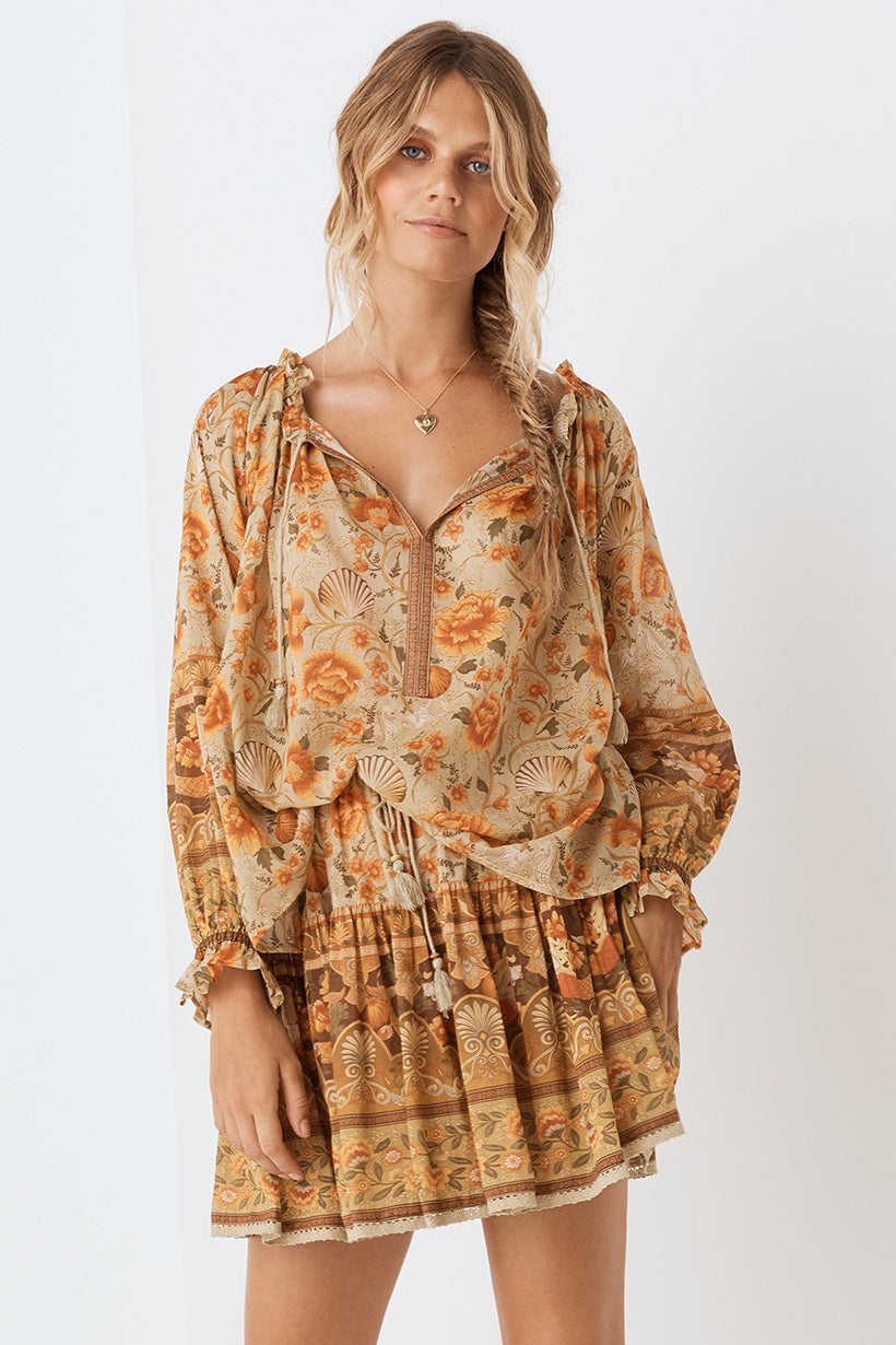 Seashell Blouse - Sand (4354857861201)