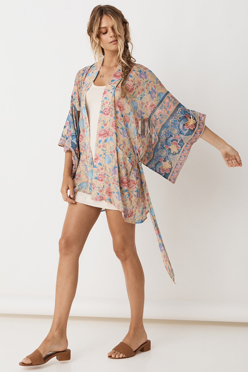 Seashell Short Robe - Opal (4354929426513)