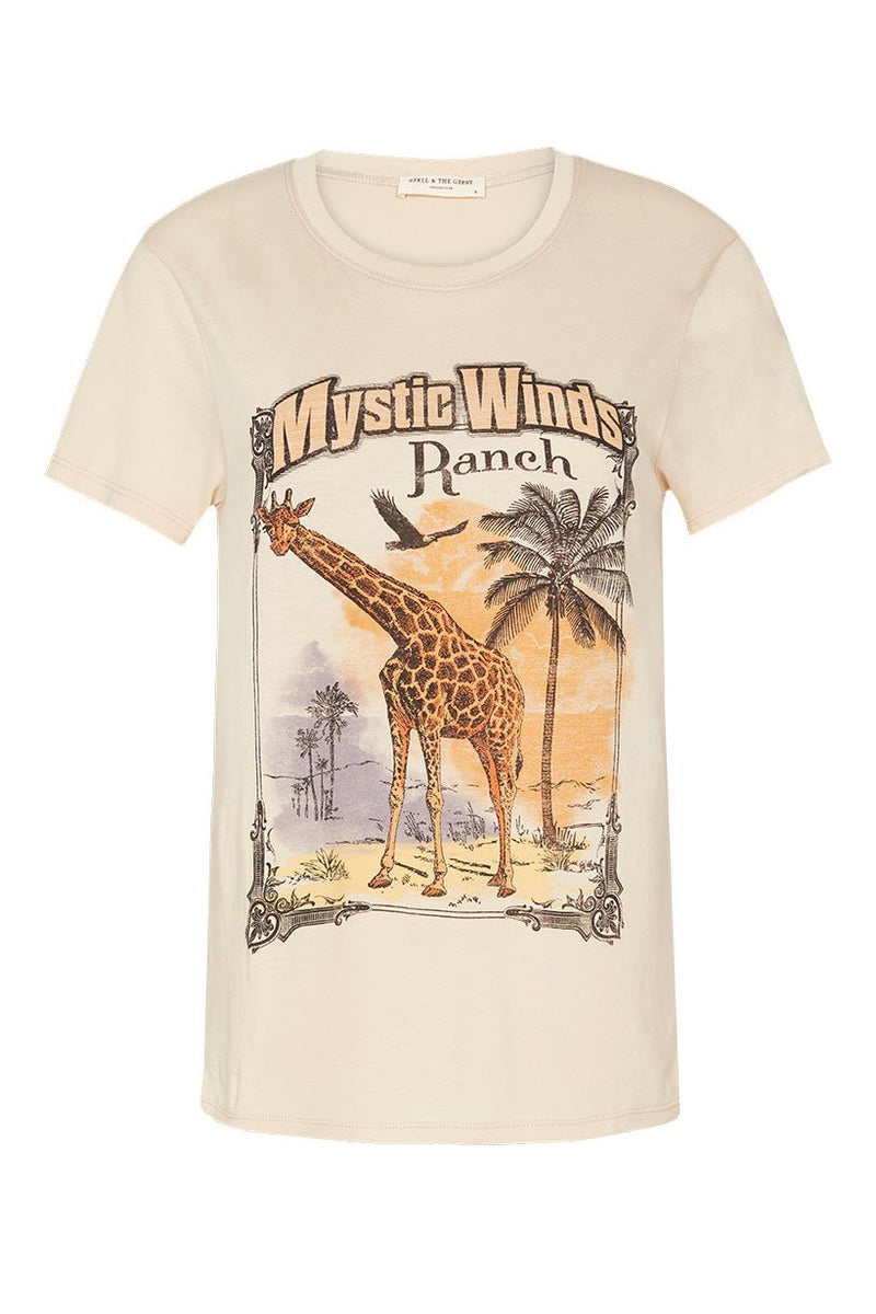 Mystic Winds Organic Tee - Cream