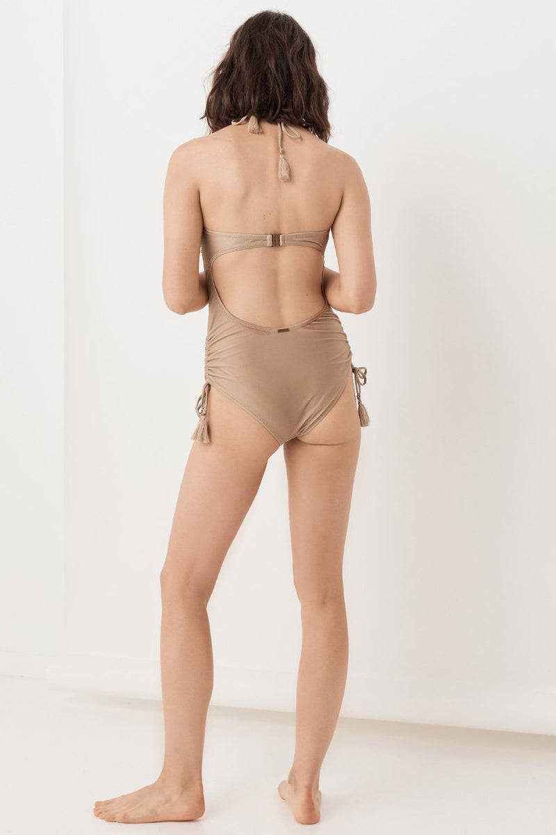 Waterfall One Piece - Taupe