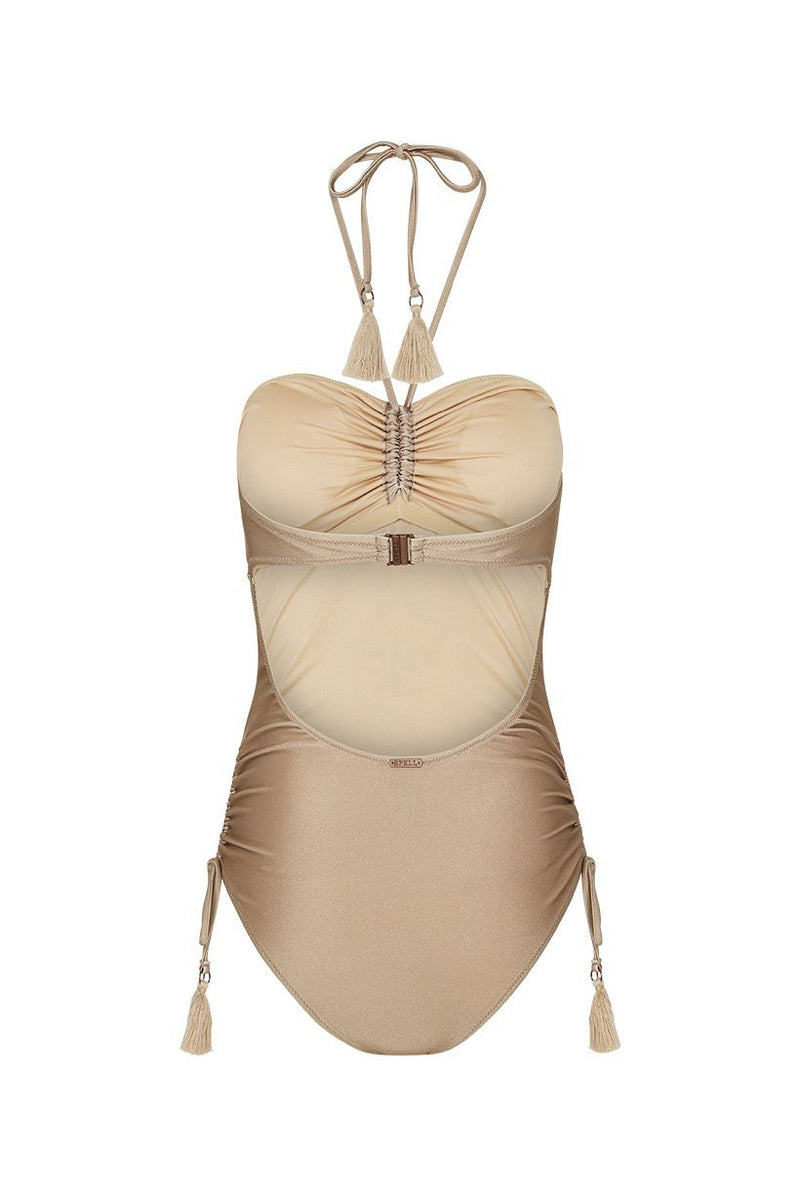 Waterfall One Piece - Taupe (3696622010432)