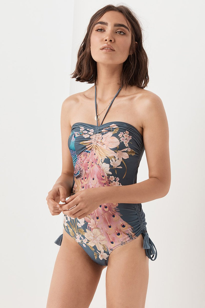 Waterfall One Piece - Deep Blue (3696101982272)
