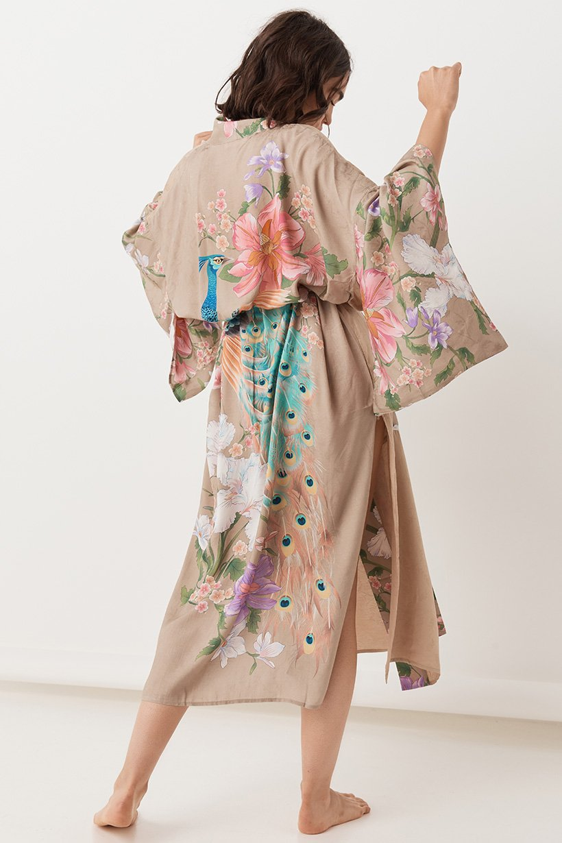 Waterfall Robe - Taupe (3697194696768)