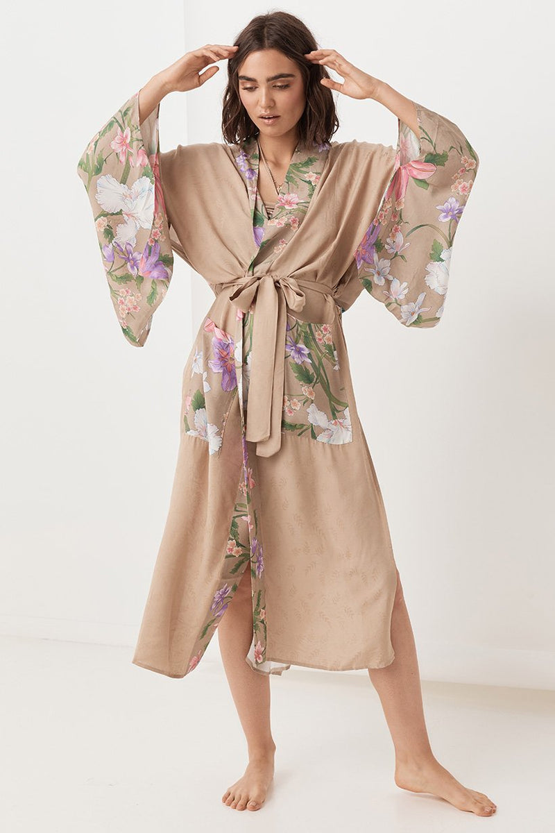 Waterfall Robe - Taupe