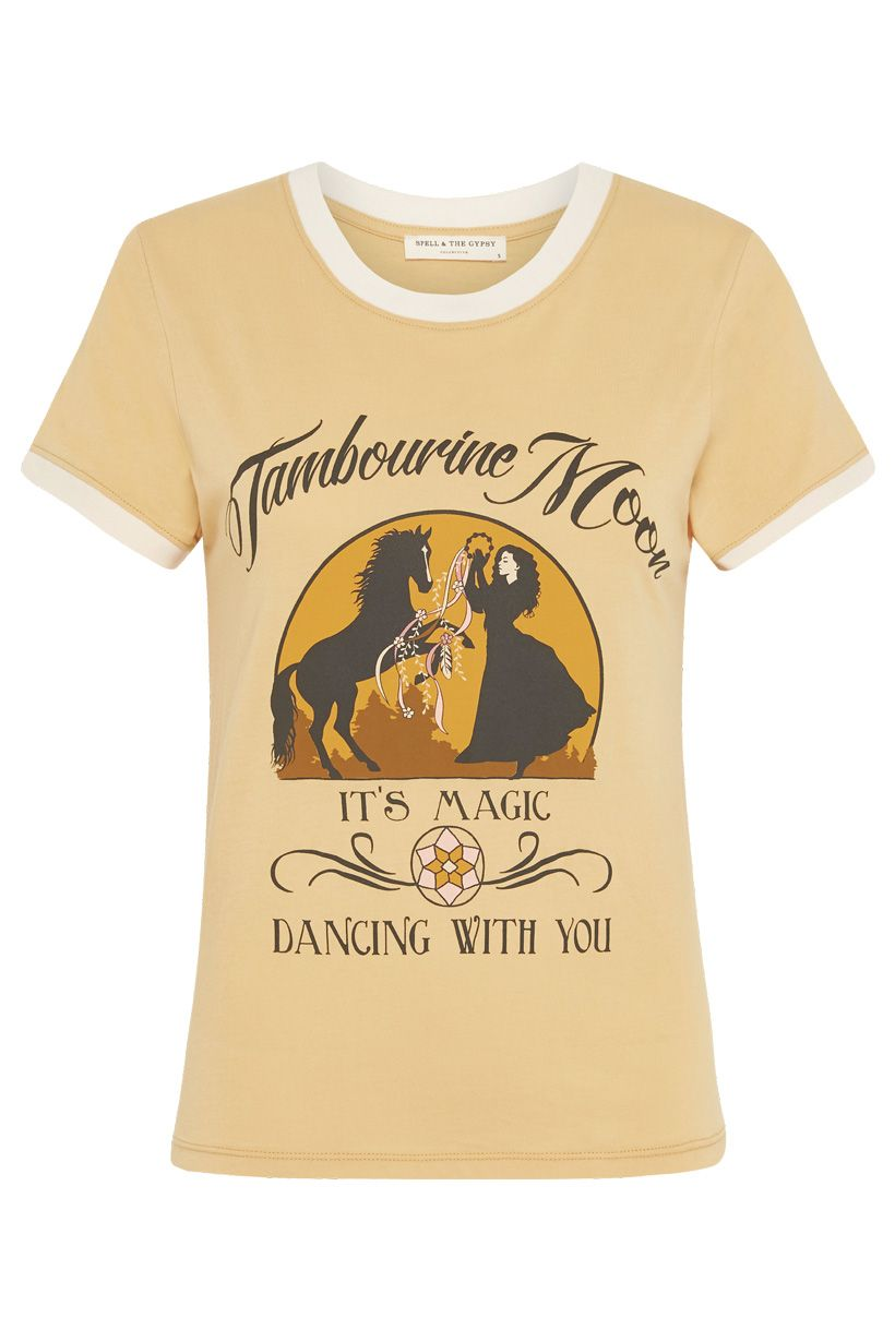 Tambourine Moon Organic Shrunken Tee - Wheat