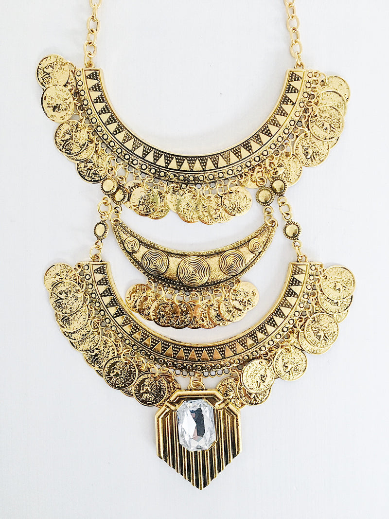 Erzin Ethnic Necklace - Gold (2762023632960)