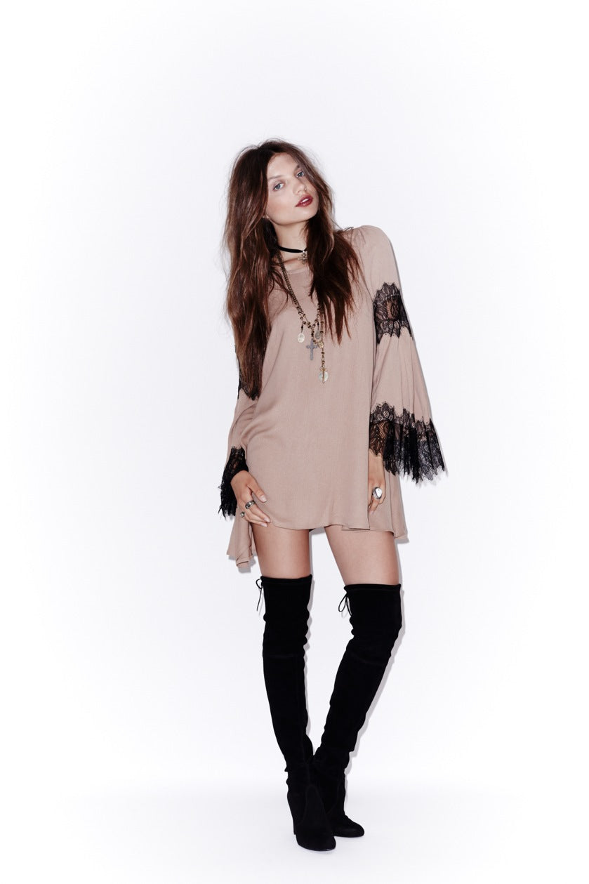 Festival Dress in Camel