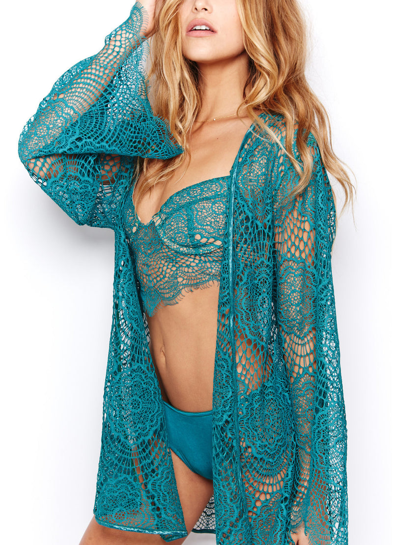 Dream Girl Robe in Jade