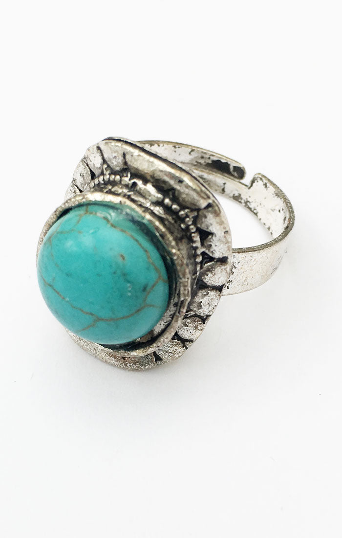 Santorini Turquoise Ring - Silver