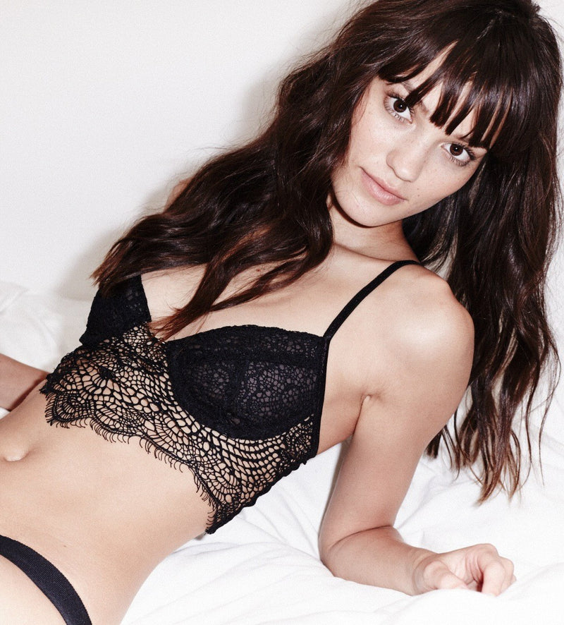 Bat Your Lashes Bra - Black