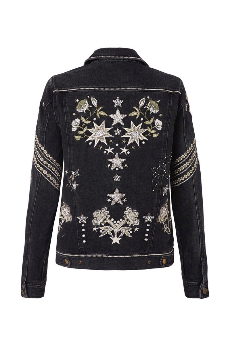 Celestial Embellished Denim Jacket