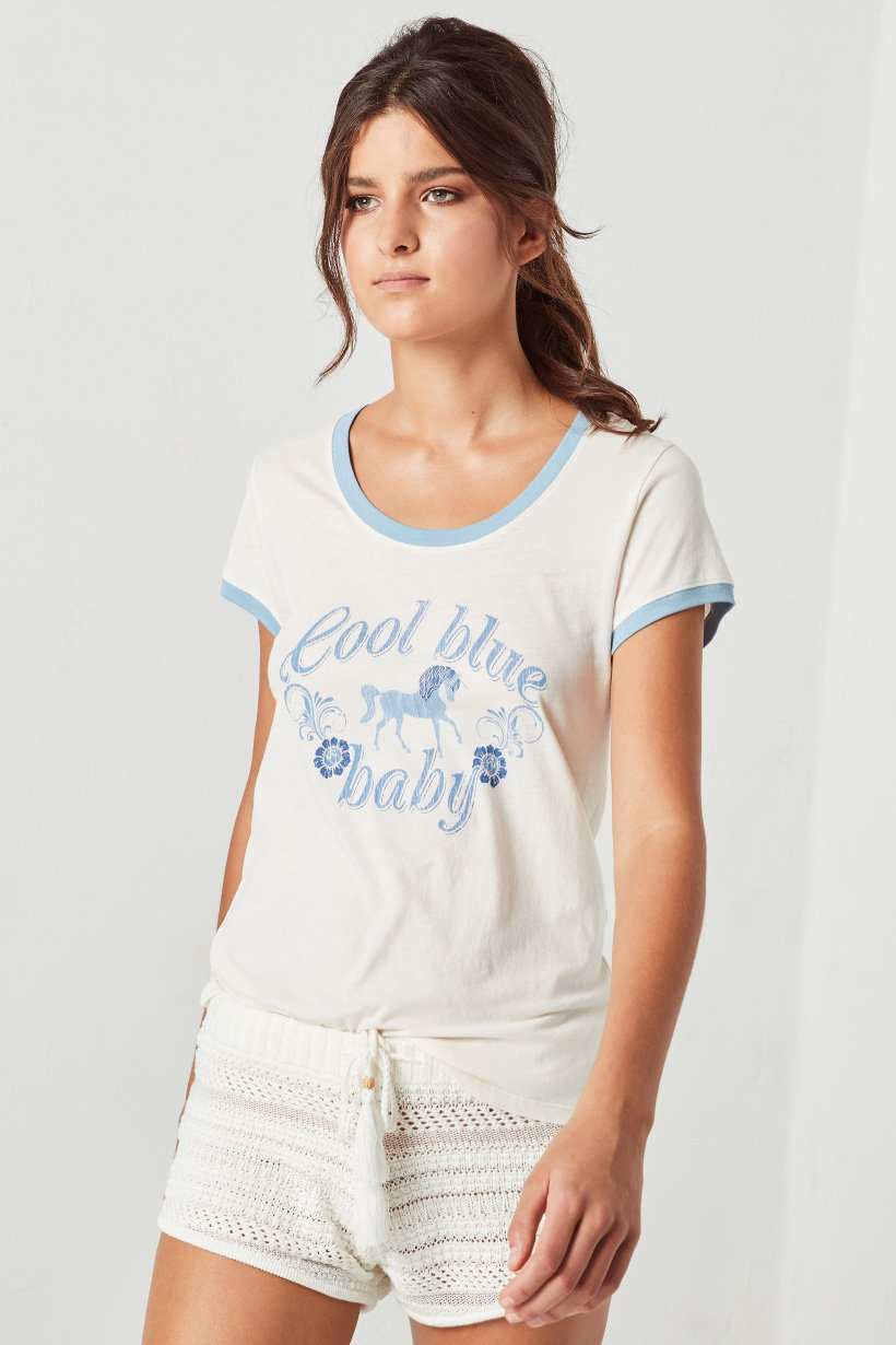 Cool Blue Baby Tee - White (2761505407040)