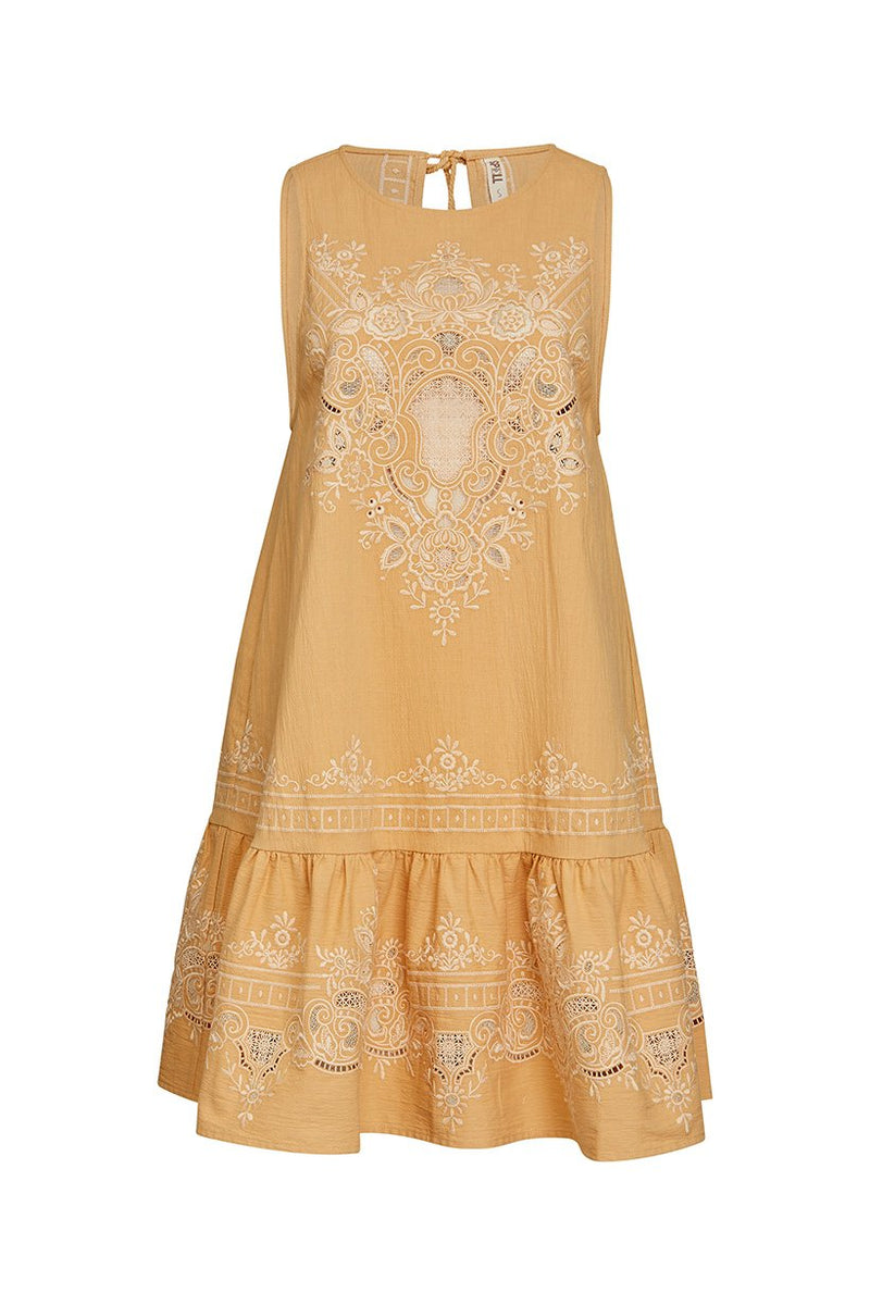Darling Embroidery Mini Dress - Malt (2761470246976)