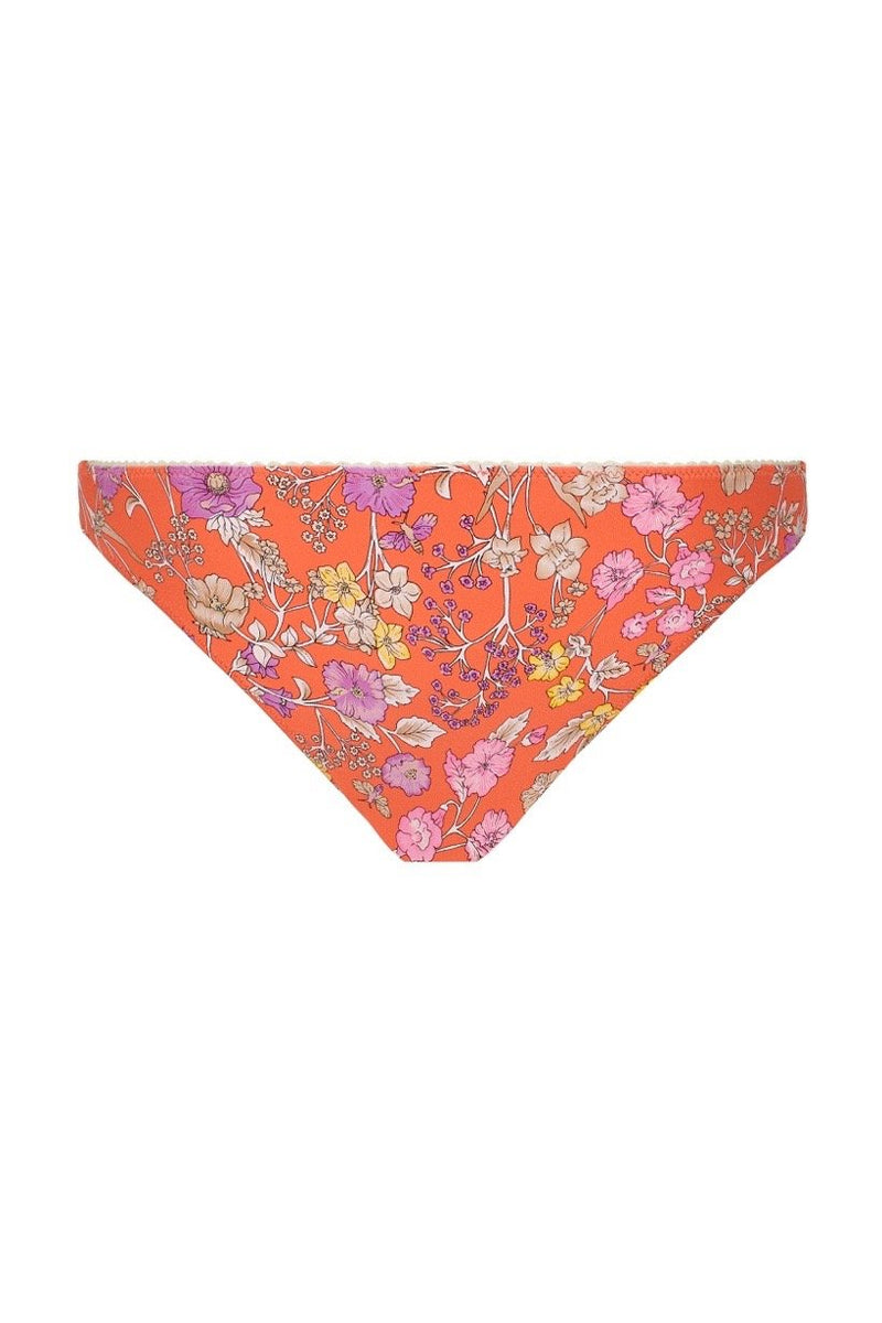 Flower Child Cheeky Pant - Coral (2761445212224)