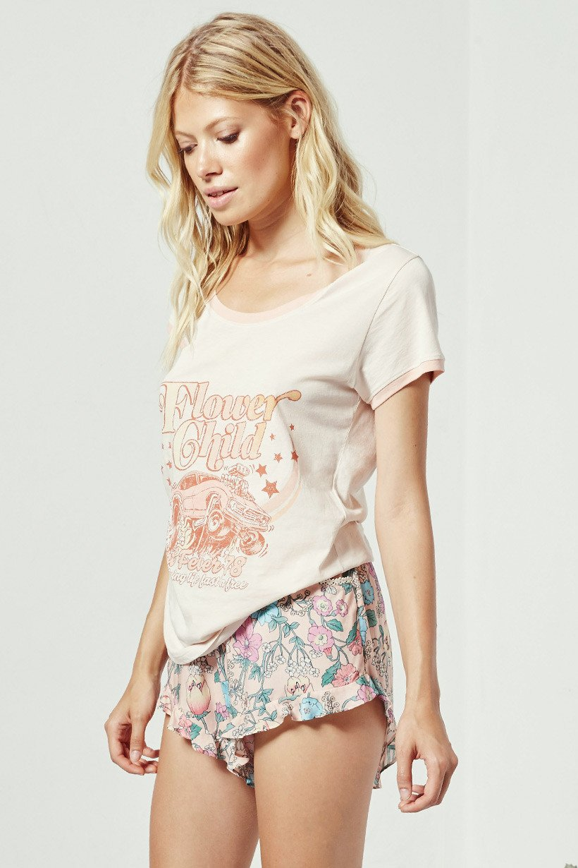 Flower Child Tee - Macadamia