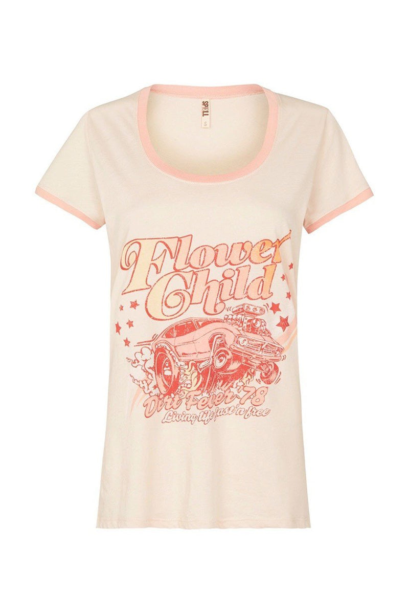 Flower Child Tee - Macadamia (2761264463936)