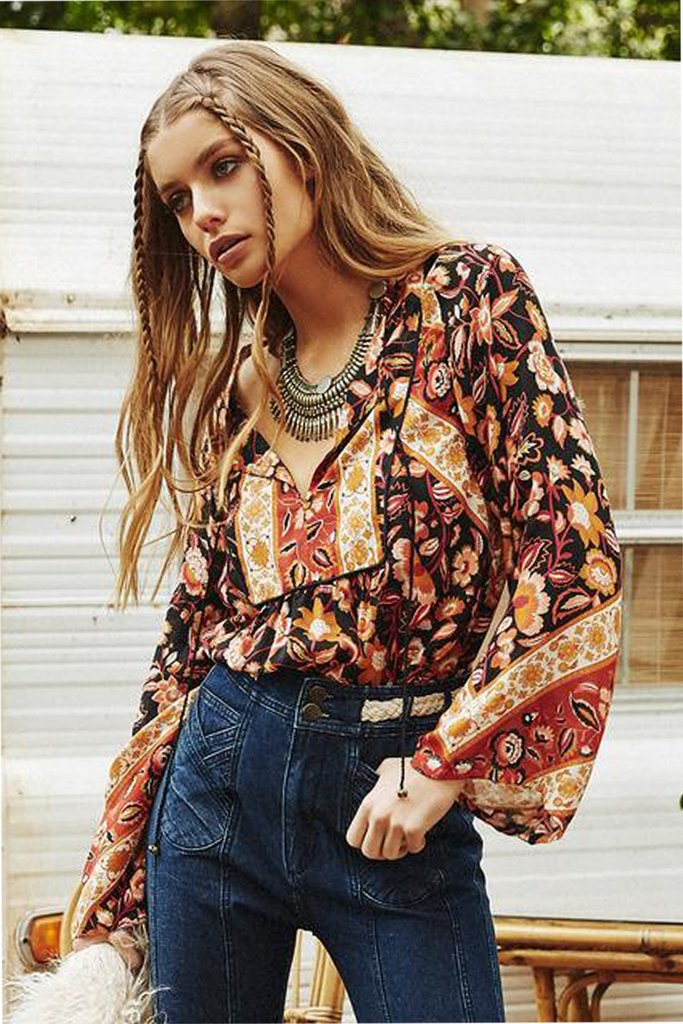 Lolita Blouse - 70's Rust *Exclusive