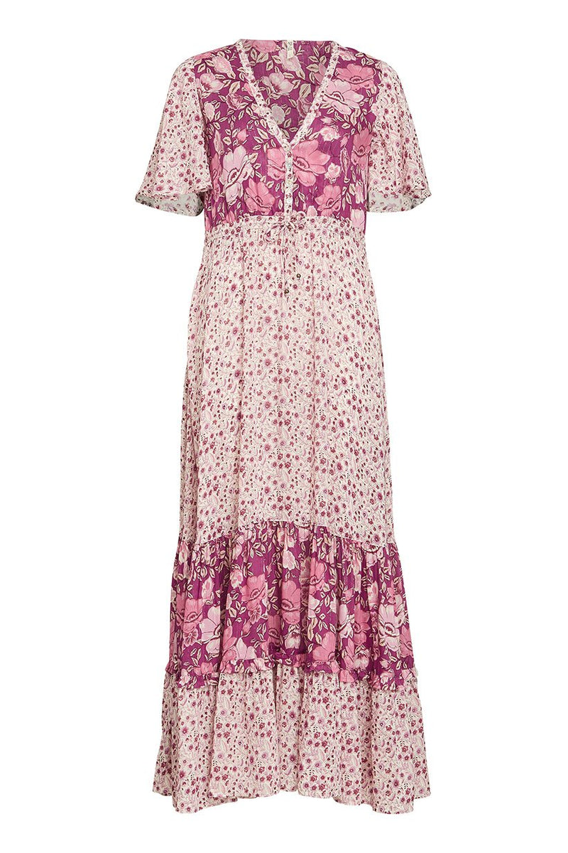 Winona Boho Gown - Berry (2761473949760)