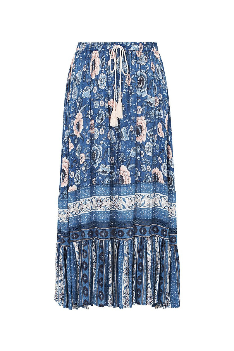 Zahara Midi Skirt - Navy