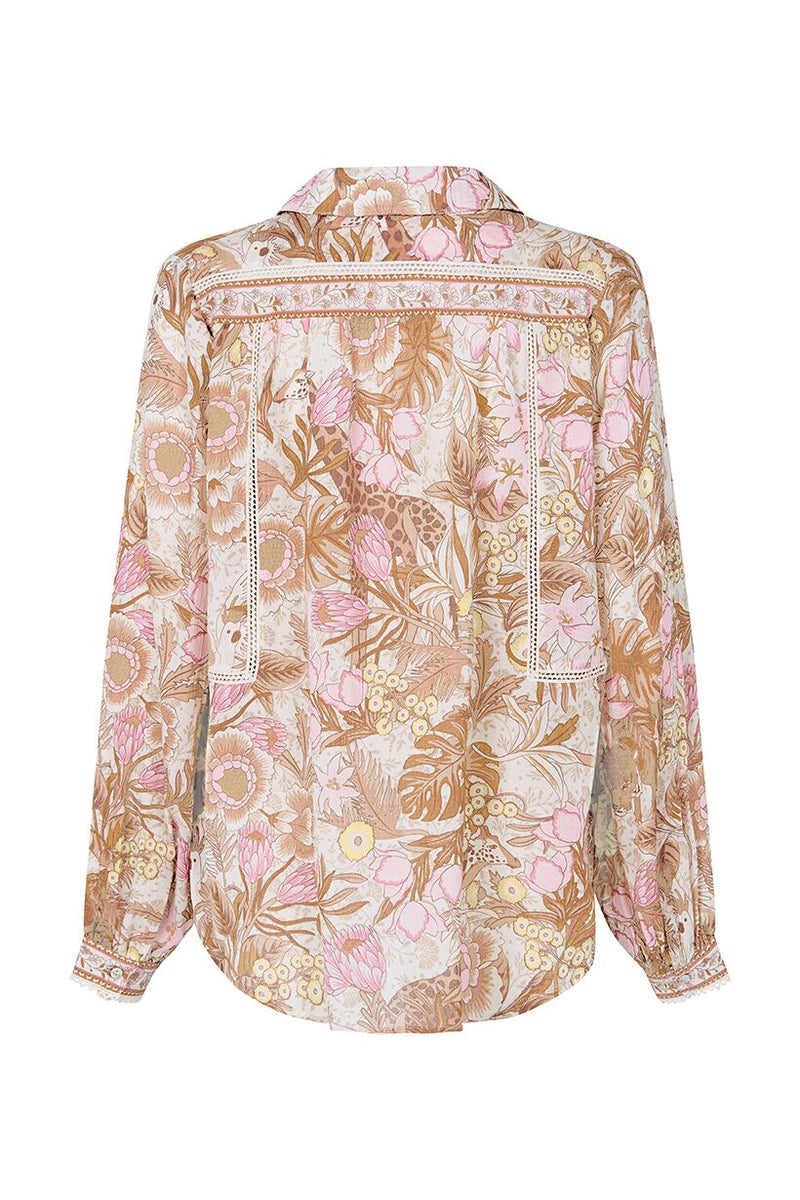Jungle Blouse - Cream (2761964453952)