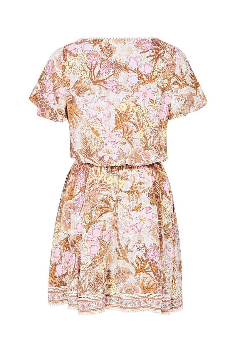 Jungle Mini Dress - Cream