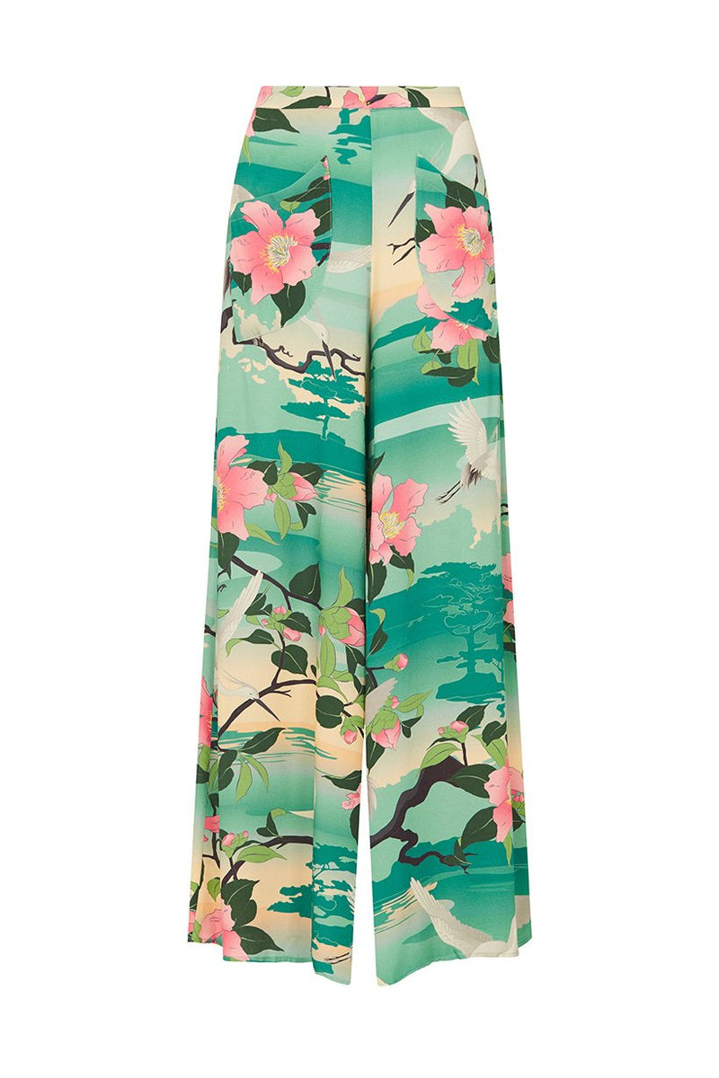 Nightingale Wide Leg Pant - Teal