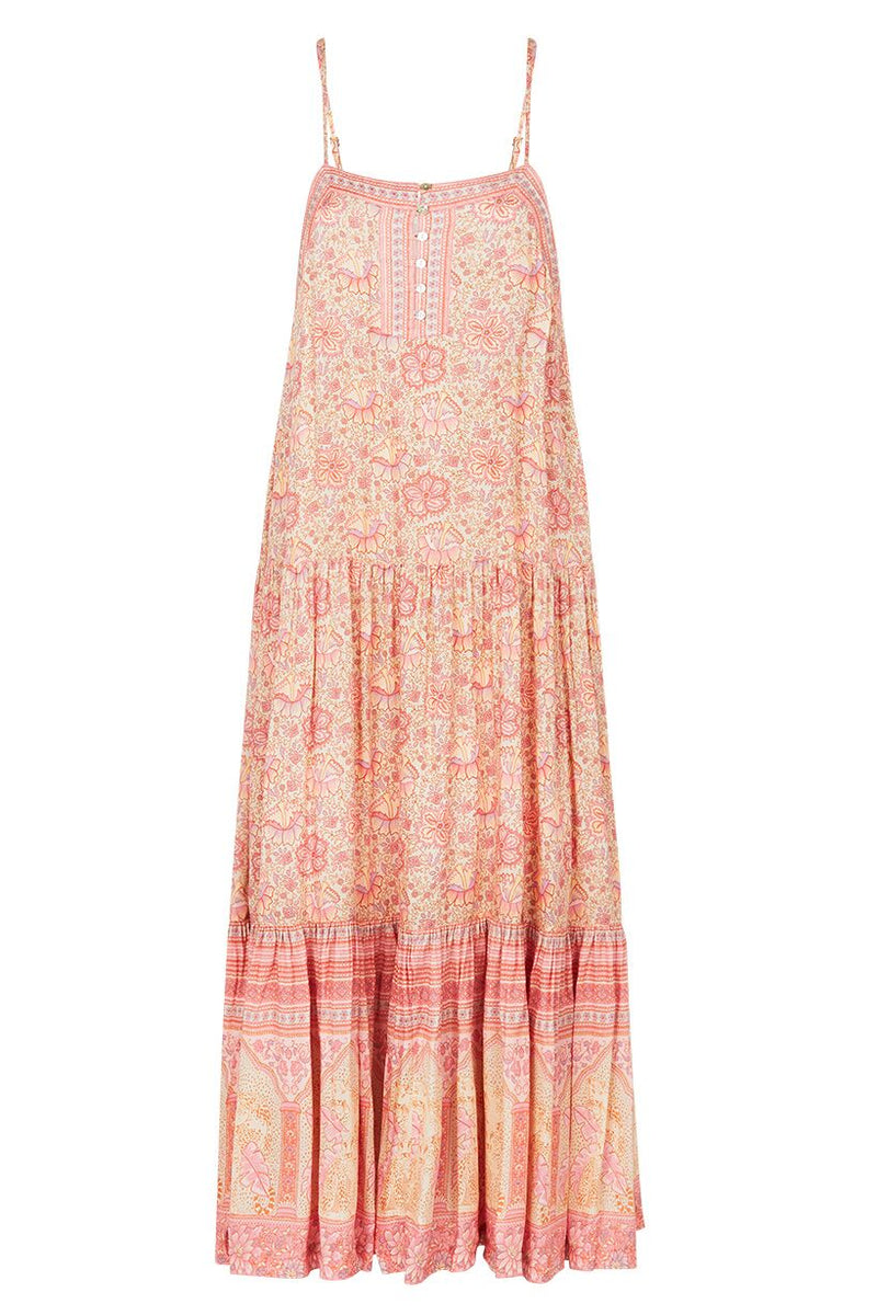 Poinciana Strappy Maxi Dress - Cotton Candy