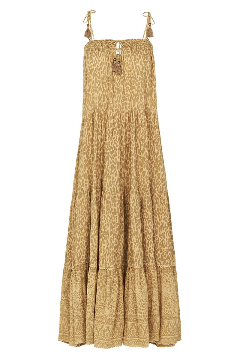 Wild Thing Strappy Midi Dress - Mustard