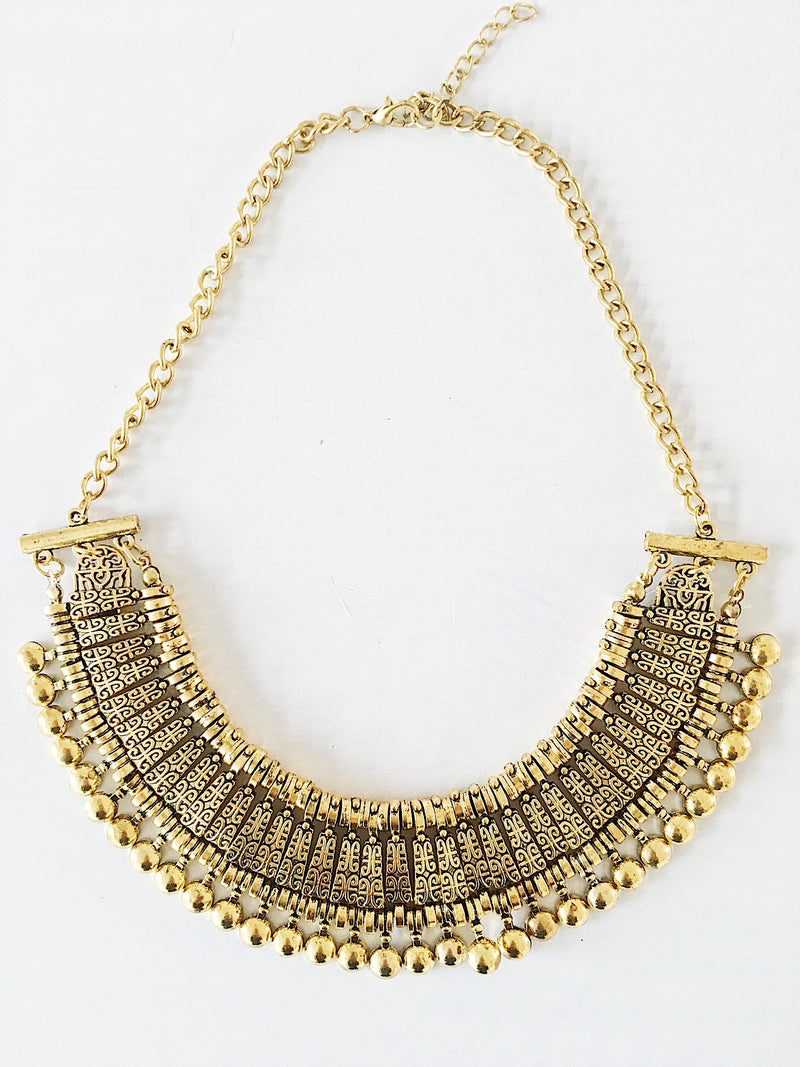 Tuzla Tribal Necklace - Gold